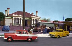 old australian golden fleece service station circa 1950s