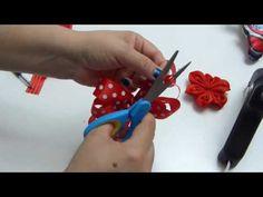 Como elaborar moños hermosos ,Lazos fáciles para el cabello,Hair bows - YouTube