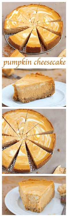 cheesecake Two fall favorite desserts – pumpkin pie meets velvety cheesecake in this scrumptious marble pumpkin cheesecake.Two fall favorite desserts – pumpkin pie meets velvety cheesecake in this scrumptious marble pumpkin cheesecake. Pumpkin Cheesecake Recipes, Pumpkin Recipes, Fall Recipes, Holiday Recipes, Cheesecake Desserts, Pumpkin Swirl Cheesecake, Pumpkin Pie Cupcakes, Raspberry Cheesecake, Baking Recipes