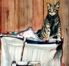 Alley Cat, painting by artist Kay Smith