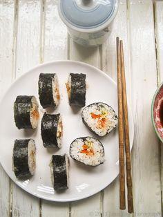 Tuna and Kimchi Kimbap