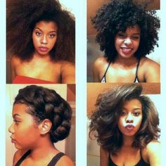 Versatility with natural hair!