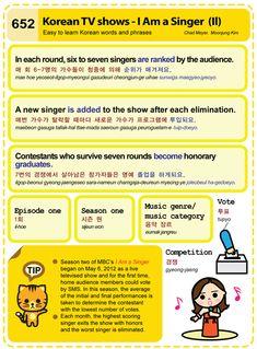 652 Easy to Learn Korean: Korean TV shows - I Am a Singer (II)
