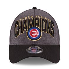 65f3d4f270cd2e Chicago Cubs New Era 2016 World Series Champions Locker Room On Field  39THIRTY Flex Hat - Graphite/Black