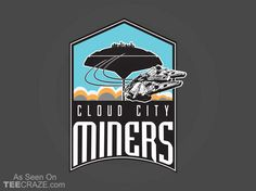 Cloud City Miners T-Shirt - https://teecraze.com/cloud-city-miners-t-shirt/ -  Designed by jemarone   You May Also Like                          Rabbit In Time T-Shirt                                       Solo Smuggling T-Shirt