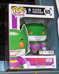 FUNKO POP LOOTCRATE EXCLUSIVE BATMAN JOKER BATMAN DC POP SUPER HEROES RARE  #FUNKO