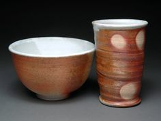 Wood Fired Tumbler and Bowl Breakfast Set with by TheBrownPottery, $30.00