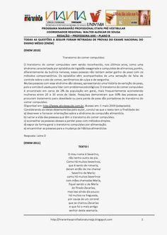 Programa Maranhão Profissional 2014: ETAPA PRÉ-VESTIBULAR - PLANO B - REDAÇÃO