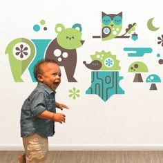 Woodland Animals (Boy). Wall decals from illustrator Ty Wilkins.