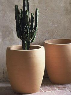 Terracotta garden pot CACTUS : CAC 15 Poterie Ravel