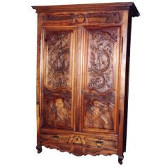 French Wedding Armoire, a Masterpiece of Applied Arts