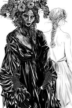 """teeething: """"another from the zine, my 3 fave F's - Fashion, Flesh, Flowers"""""""