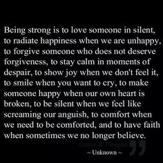 Be strong and you can't go wrong