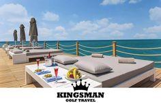 Sometimes you just need a beach day. www.kingsmangolf.com #golf #golfing #sirene #sea #pier #fruit #rose #wine #sunbath #mediterranean #luxury #travel #golfholiday #golfinbelek #golfinturkey #golfholidayinturkey #golftravelturkey #kingsmangolf #turkey #antalya #belek
