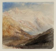 Joseph Mallord William Turner 'Mont Blanc and the Glacier des Bossons from above Chamonix; Evening', 1836