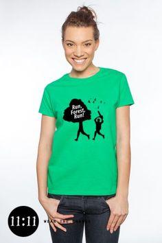 """Run, Forest, Run"" environmental t-shirt: http://shop.spreadshirt.com/1111now/10597913?q=I10597913"