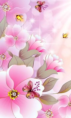 By Artist Unknown. Ocean Wallpaper, Phone Screen Wallpaper, Butterfly Wallpaper, Pastel Wallpaper, Love Wallpaper, Cellphone Wallpaper, Iphone Wallpaper, Beautiful Flowers Wallpapers, Pretty Wallpapers