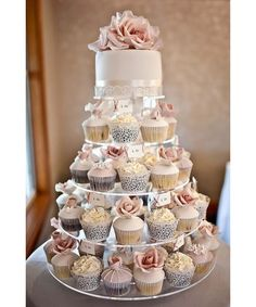 See photos of nontraditional wedding cake ideas including cupcakes, donuts, brownies, cinnamon rolls, cannolis and more from Pinterest.