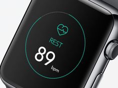 Fitness app on the #AppleWatch. Looks great, but not yet possible to implement with all those animations.