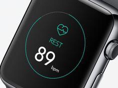Fitness app  iWatch #UX #UI