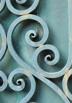 architectural salvage detail - a lovely shade of blue