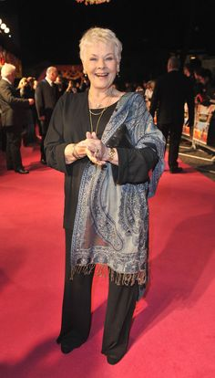 Dame Judi Dench cracking a smile at the UK premiere for THE BEST EXOTIC MARIGOLD HOTEL
