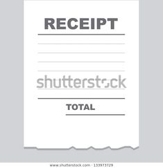 Find Blank Receipt Printout Torn Bottom Edge stock images in HD and millions of other royalty-free stock photos, illustrations and vectors in the Shutterstock collection.  Thousands of new, high-quality pictures added every day.