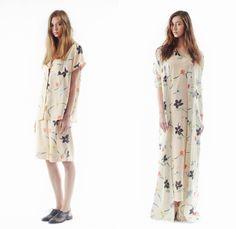 Steven Alan 2014 Spring Womens Presentation - New York Fashion Week - Buenos Aires Inspiration Japanese Roomwear Lounge Pajamas Flower Print...