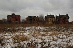 Ruins, Brush Park Mansions  Detroit