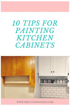 If your kitchen cabinets need updating and you have been thinikin of painting them. Here are 10 Tips for Painting Kitchen Cabinets (learned the hard way) Budget Kitchen Remodel, Kitchen On A Budget, Beautiful Kitchen Designs, Beautiful Kitchens, Kitchen Lighting Fixtures, Light Fixtures, Painting Kitchen Cabinets, Kitchen Backsplash, Kitchen Countertops