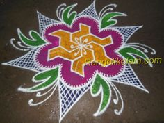 supper design kolam  -colour kolam