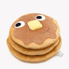 """This 12-inch """"soft, friendly stack of flapjacks"""" will be sure to bring a smile to any kid's face. $24.95 from kidrobot."""