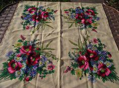 SаLе  75% off Soviet Floral Shawl Vintage от RussianshawlMayya