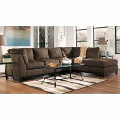 Signature Design by Ashley Fusion - Cafe Contemporary Sectional Sofa with Right-Facing Chaise - Knoxville Wholesale Furniture - Sofa. Furniture Village, Condo Furniture, At Home Furniture Store, Online Furniture Stores, Dining Room Furniture, 2 Piece Sectional Sofa, Modern Sectional, Couch, Home Theater Rooms