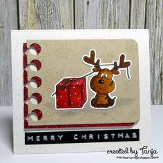 Little Art Cottage: Gift Wrapping -  #gerdasteinerdesigns #gsdstamps #cleancolorrealbrush #papersmooches #createasmile #glitter #gmundpaper #dymolabelmaker #christmas