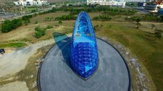 It's definitely not your average church but apparently this unique Cinderella style glass slipper is attracting female visitors who want it as the perfect backdrop to their fairytale wedding.  Featuring: Atmosphere Where: Southwest Coast National Scenic , Taiwan Credit: Supplied by WENN.com