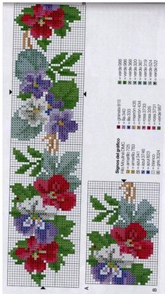 The Cross Stitch Guild - Stitc Cross Stitch Boarders, Cross Stitch Bookmarks, Mini Cross Stitch, Cross Stitch Rose, Cross Stitch Flowers, Cross Stitch Designs, Cross Stitching, Cross Stitch Embroidery, Hand Embroidery