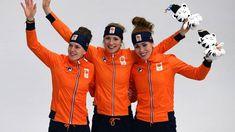 Carlijn Achtereekte, Ireen Wüst en Antoinette de Jong zorgen in Pyeongchang voor het tweede complete Nederlandse vrouwenpodium in de historie. Dat lukte de mannen vier keer.