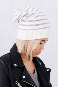 Striped Terry Beanie - Urban Outfitters