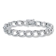 Sterling Silver ½ Carat t.w. Diamond Bracelet
