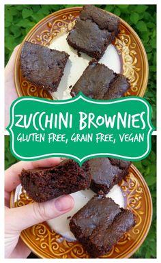 Zucchini Brownies - Grain free, gluten free, vegan
