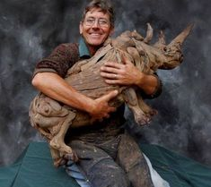Tony Fredriksson is a sculptor who can work wonders with driftwood. Just look at this baby rhino created from driftwood. Driftwood Sculpture, Art Sculpture, Driftwood Art, Animal Sculptures, African Furniture, South African Artists, Muse Art, Found Art, Art Decor