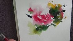 "Catherine REY - Démo aquarelle - ""Rose"""