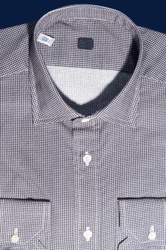 Composizione  100% Cotone Camicia con stampa super small check 4f98c821f7d