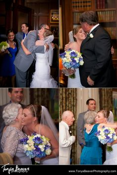 A bride hugging her new family after the wedding ceremony! Welcome to the family!   TPC Wedding Photos - Ponte Vedra Wedding Photos -  Tonya Beaver Photography 024