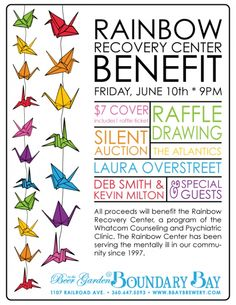 Rainbow Recovery Center benefit poster