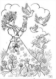 Użyj STRZAŁEK na KLAWIATURZE do przełączania zdjeć Diy And Crafts, Arts And Crafts, Embroidery Patterns, Coloring Pages, Jar, Seasons, Spring, Drawings, Artwork