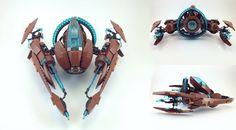 A scary scarab ship
