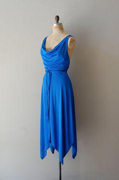 vintage 1970s Modern Electric dress || http://www.etsy.com/listing/96771477/1970s-dress-70s-jersey-dress-modern    #vintage