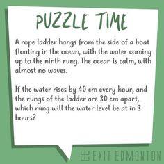 Boat ladder riddle